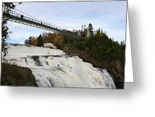 Montmorency Waterfall  Canada Greeting Card