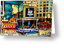 Montreal International Jazz Festival Greeting Card