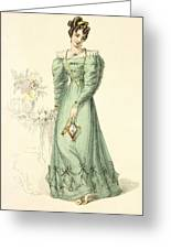 Morning Dress, Fashion Plate Greeting Card