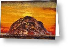 Morro Rock 3007 Greeting Card
