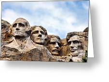 Mount Rushmore Monument Greeting Card