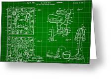 Mouse Trap Board Game Patent 1962 - Green Greeting Card