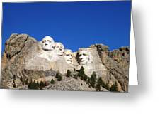 Mt Rushmore Greeting Card