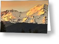 Mt. Shasta Sunset Panorama Greeting Card