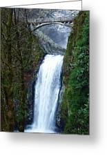 Multnomah Falls Bridge Greeting Card