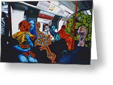 Mutinous Objects Gather In Darkness. The Underground Greeting Card