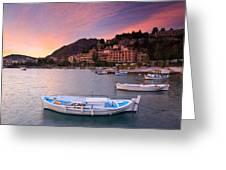 Nafplio Harbour Greeting Card