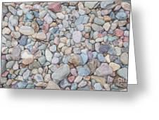 Natural Rock Pebble Backgorund Greeting Card