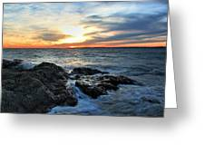 New Haven Sunset Greeting Card