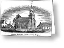 New Jersey Church, 1844 Greeting Card