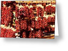 New Mexico Red Chili Ristra And Gralic Greeting Card