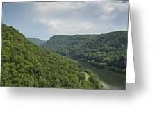 New River Scene 13 B Greeting Card