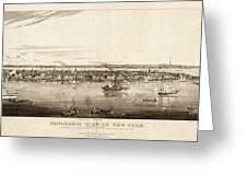 New York City, 1840 Greeting Card