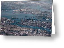 New York City Aerial Greeting Card