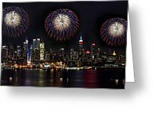 New York City Celebrates The 4th Greeting Card