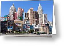 New York New York Casino Greeting Card
