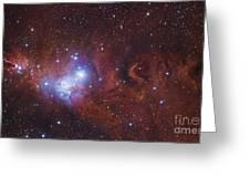 Ngc 2264, The Cone Nebula Region Greeting Card