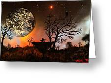 Night Of The Scarecrow  Greeting Card