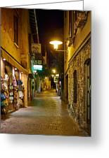 Night. Sirmione. Lago Di Garda Greeting Card
