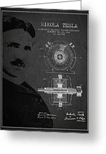 Nikola Tesla Patent From 1891 Greeting Card