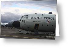 Nose Cone Detail On A Lc-130h Aircraft Greeting Card by Timm Ziegenthaler