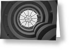 Nyc Guggenheim Greeting Card by Nina Papiorek