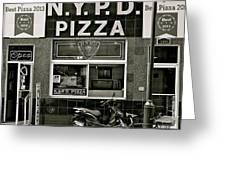 N.y.p.d. Pizza Greeting Card
