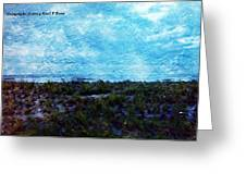 Ocean As A Painting Greeting Card