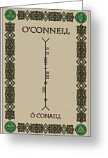 O'connell Written In Ogham Greeting Card