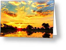 Okavango Delta Sunset Greeting Card