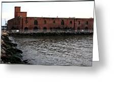 Old Brooklyn Pier Warehouse Greeting Card