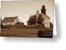 Old Field Point Lighthouse Greeting Card