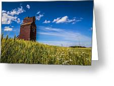Old Grain Elevator Greeting Card