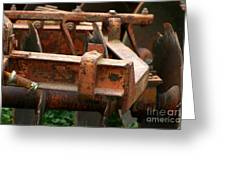 Old Mowing Machine Greeting Card