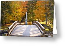 Old North Bridge Concord Greeting Card by Brian Jannsen