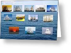 Old Tall Ships Greeting Card