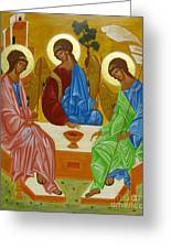 Old Testament Trinity Greeting Card by Joseph Malham