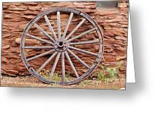 Old Wagon Wheel 2 Greeting Card