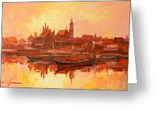 Old Warsaw - Wisla River Greeting Card