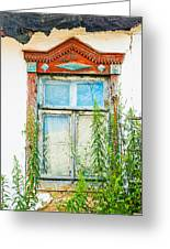 Old Wooden Window Greeting Card