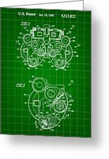Optical Refractor Patent 1985 - Green Greeting Card