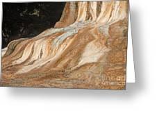 Orange Spring Mound At Mammoth Hot Springs Greeting Card