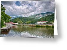 Overlooking Chimney Rock And Lake Lure Greeting Card