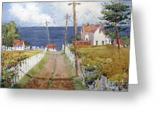 Pacific View And Blackberries Too Greeting Card