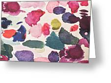 Paint Stains Greeting Card