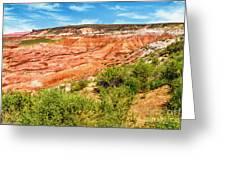 Painted Desert National Park Panorama Greeting Card