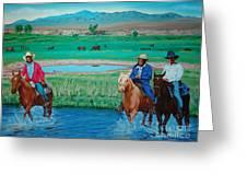 Paiute Cattlemen Greeting Card