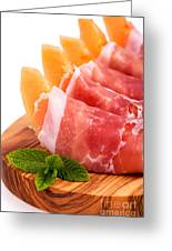 Parma Ham And Melon Greeting Card by Jane Rix