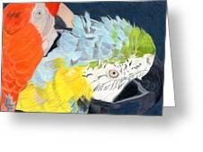 2 Parrots Greeting Card by Bav Patel