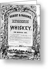 Patent Medicine Poster Greeting Card